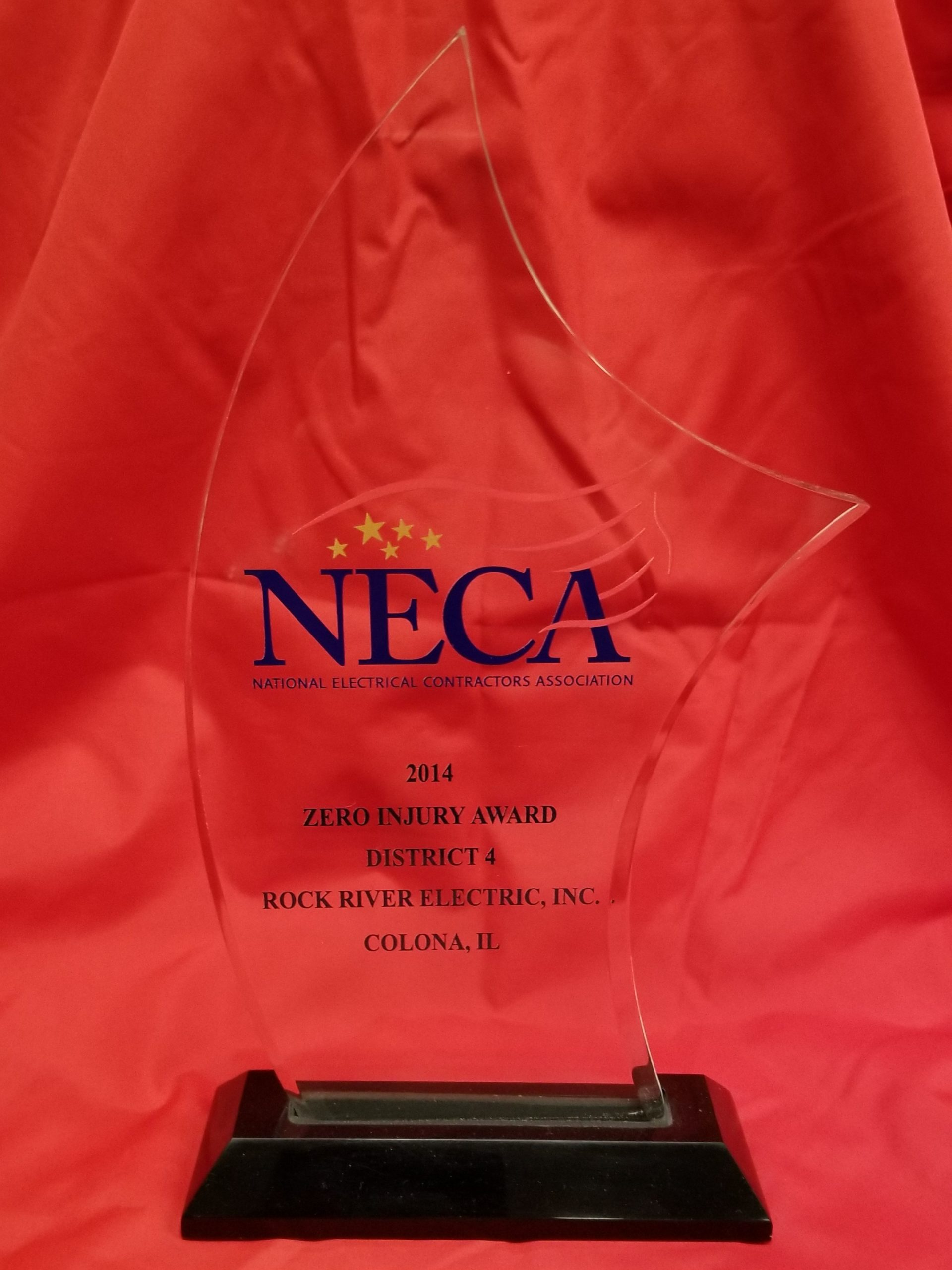 2014 NECA Safety Excellence Award & Zero Injury Award